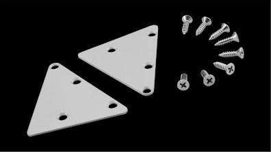 Endekant i aluminium, inkl. skruer