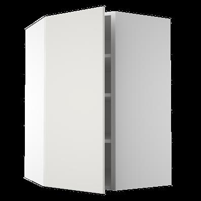 Diagonalhjørneoverskap 86,4 cm høyt med 3 hyller