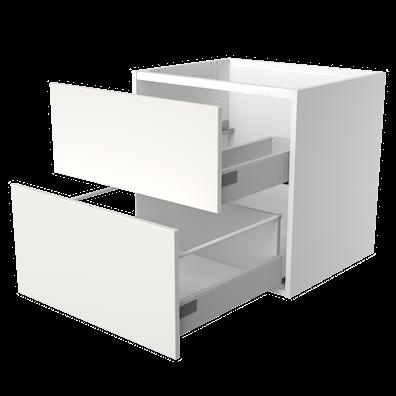 Håndvaskskap 47,5 cm dypt med 2 softlukk-skuffer