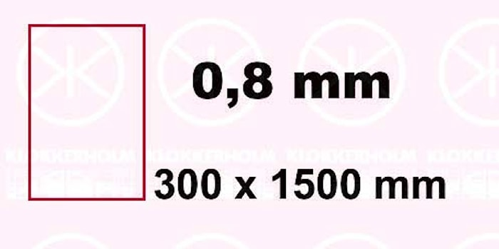 Plåt 300x1500x0,8mm