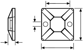 Mont.platta SolidT. (1=100st)