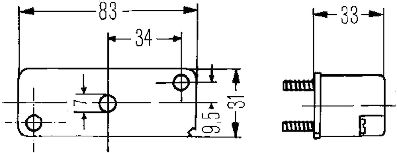 Reg.skyltbelysn 83x31mm svart