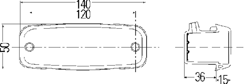 Sidoblinklykta hö 140x50mm