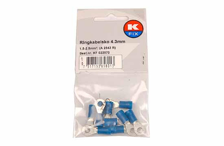Ringkabelsko 4,3mm blå