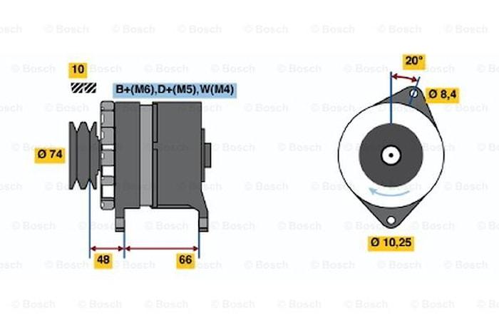 Generator utbytes 24V/40A