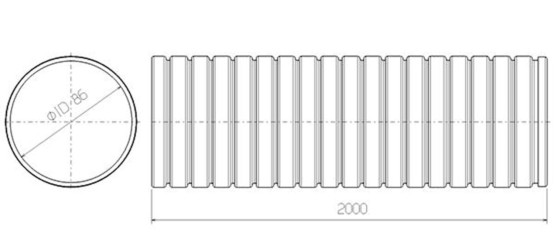 Flexrör 86x2000