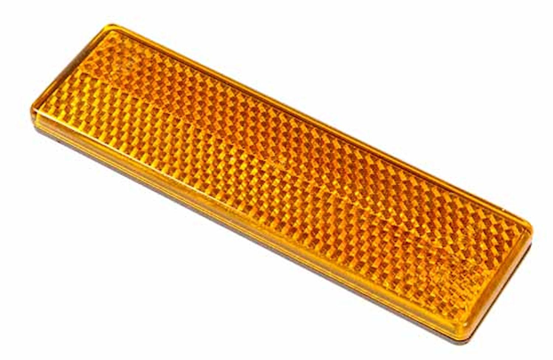 Reflex gul 92x27mm självhäft