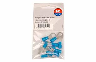 Ringkabelsko 6,5mm blå