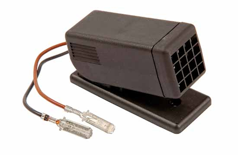 Läslampa 12V svart f påbyggn