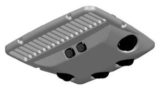 Luftfördelningspanel 12V grå