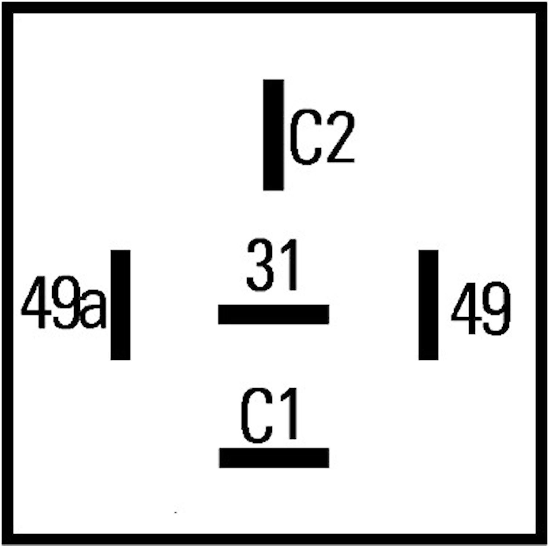 Blinkrelä 12V 5-ansl(C+C2) 2+1