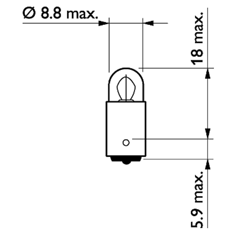 Glödlampa 24V 3W BA9s
