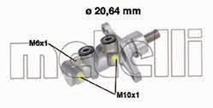 Huvudcylinder Broms 20,64mm