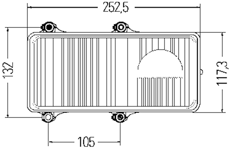 Hel-/halvljusstrålk 24V hö DE