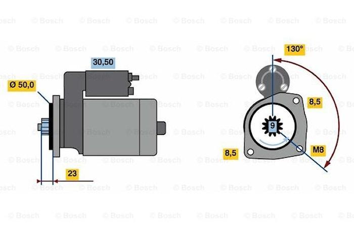 Startmotor utbytes 12V/1kW