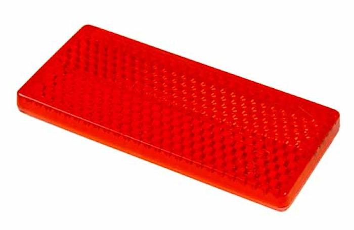 Reflex röd 69x31,5mm självhäft