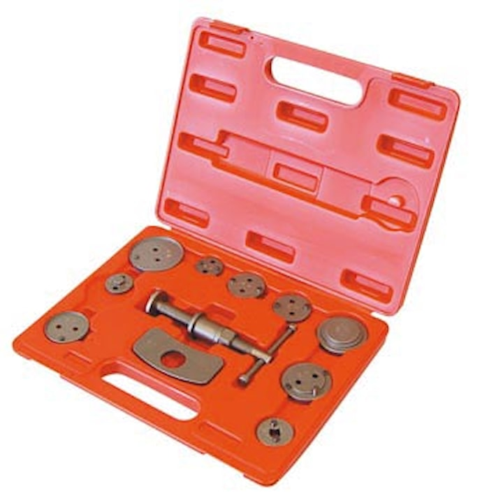 Tryck-/vridverktyg för bromsok