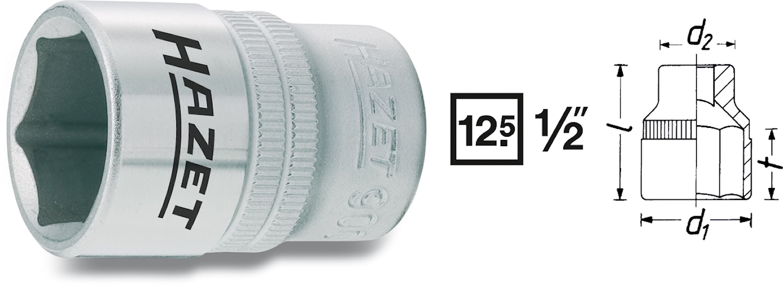 "Hylsa 1/2"" 22 mm"