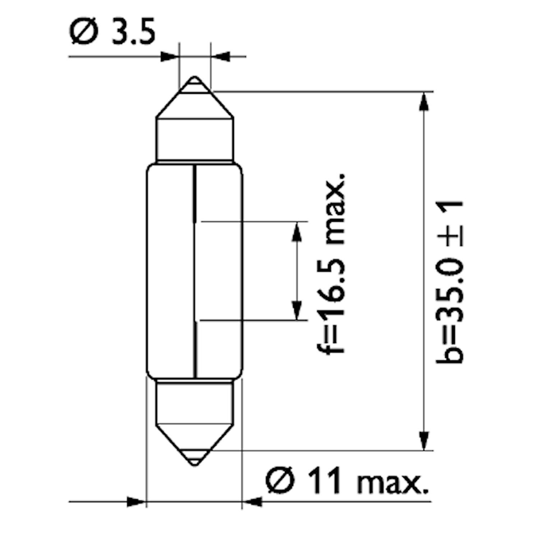 Glödlampa 12V 5W SV8,5