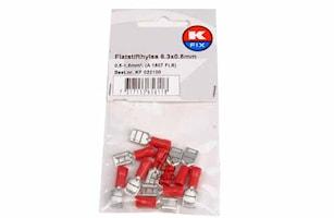 Flatstifthylsa 6,3x0,8mm röd