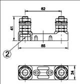 Hållare för säkringsbleck 60mm