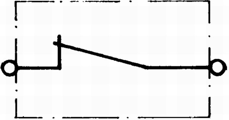 Dörr-/huvkontakt 0,4A/12V öppn