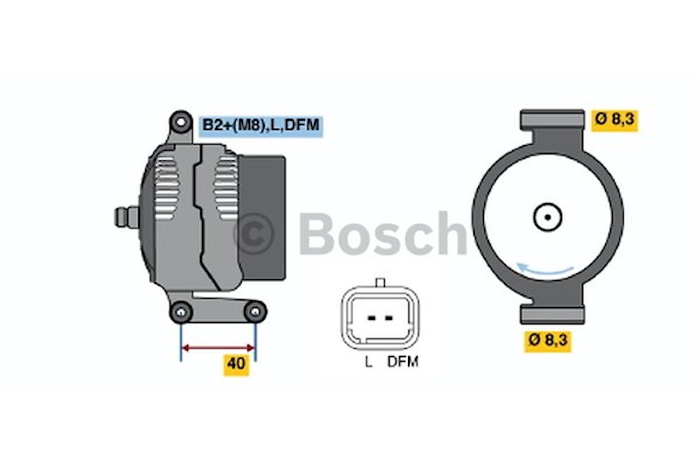 Generator utbytes 14V/98A
