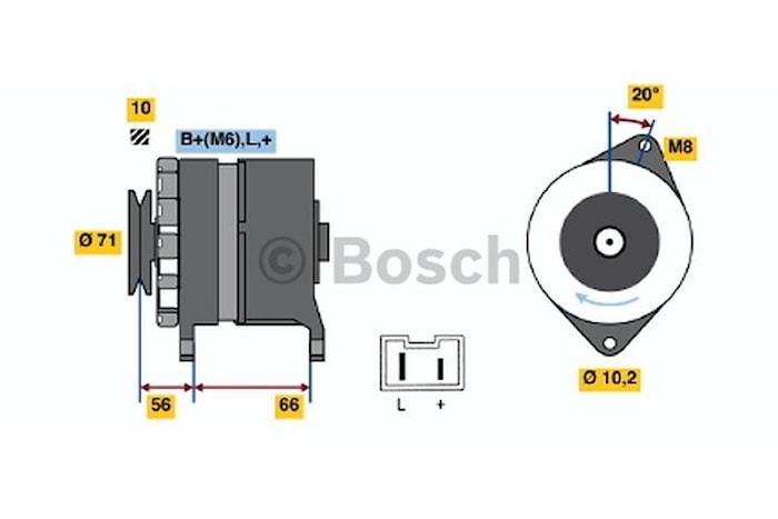 Generator utbytes 14V/90A