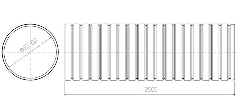 Flexrör 83x2000