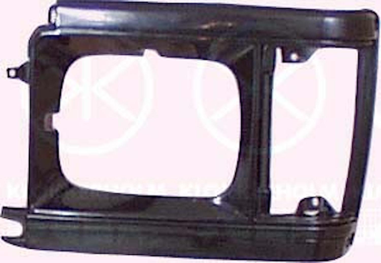 Strålkastarsarg svart 86-