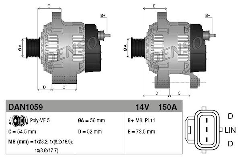 Generator 150 A