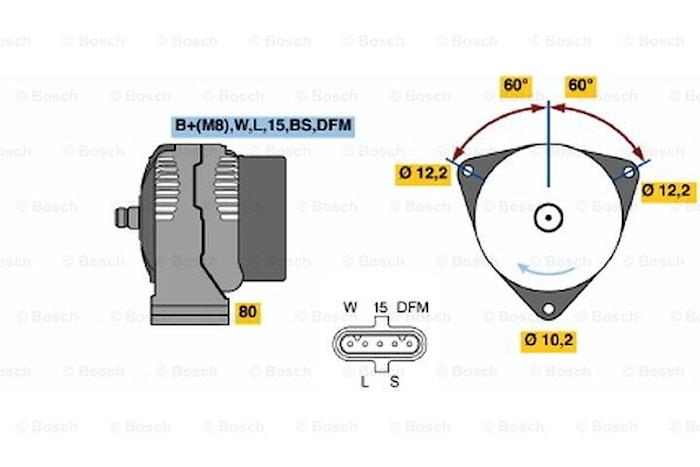 Generator utbytes 24V/100A