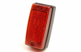 Baklykta röd m reflex 124x61,5