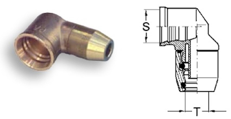Instickskoppling - P5 vinklad