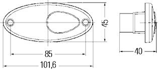 Pos.lykta 12V m reflex 102x45