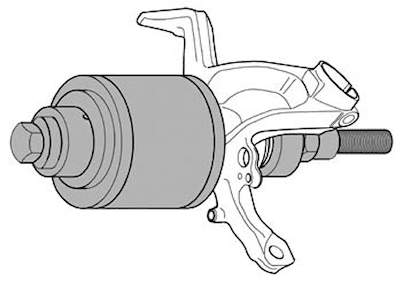 Verktygssats hjullager, mekani