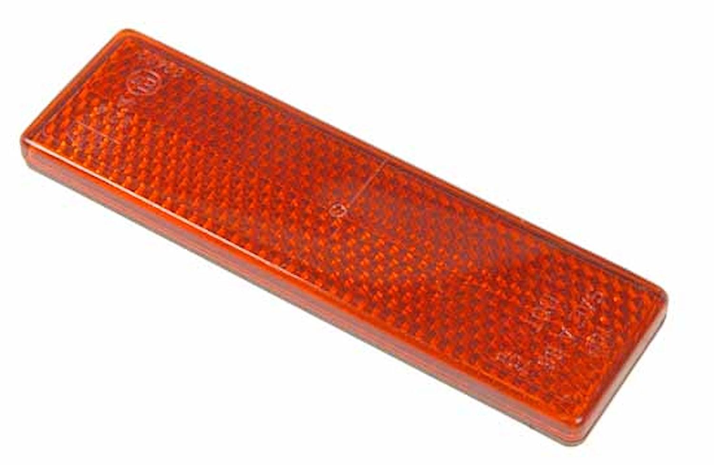 Reflex röd 92x27mm självhäft