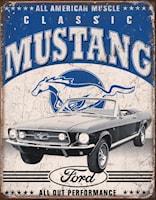 Plåtskylt/Ford Mustang