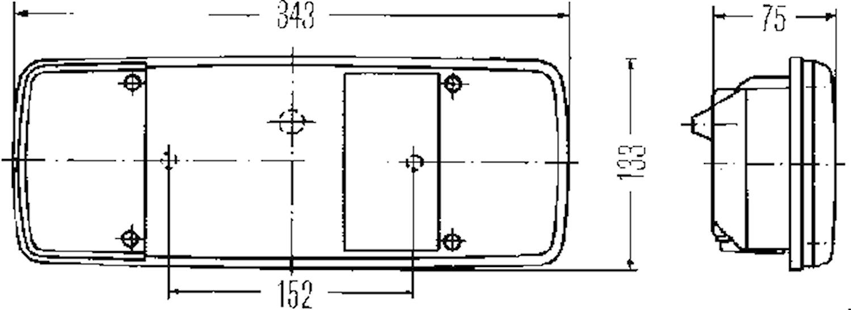 Lyktglas vä/hö f bakl 3 567