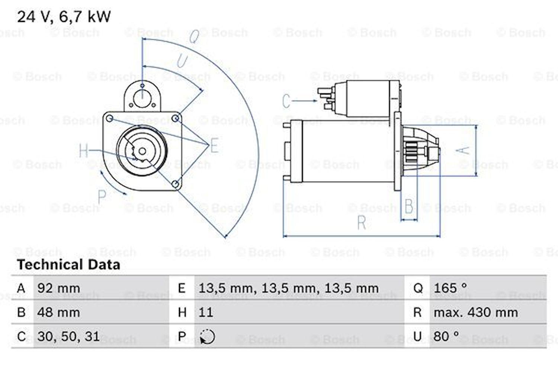 Startmotor utbytes 24V/6,7kW