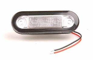 Flushbelysn 12V LED röd 84x29