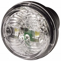 Pos.lykta 12V LED vit 35mm Ø