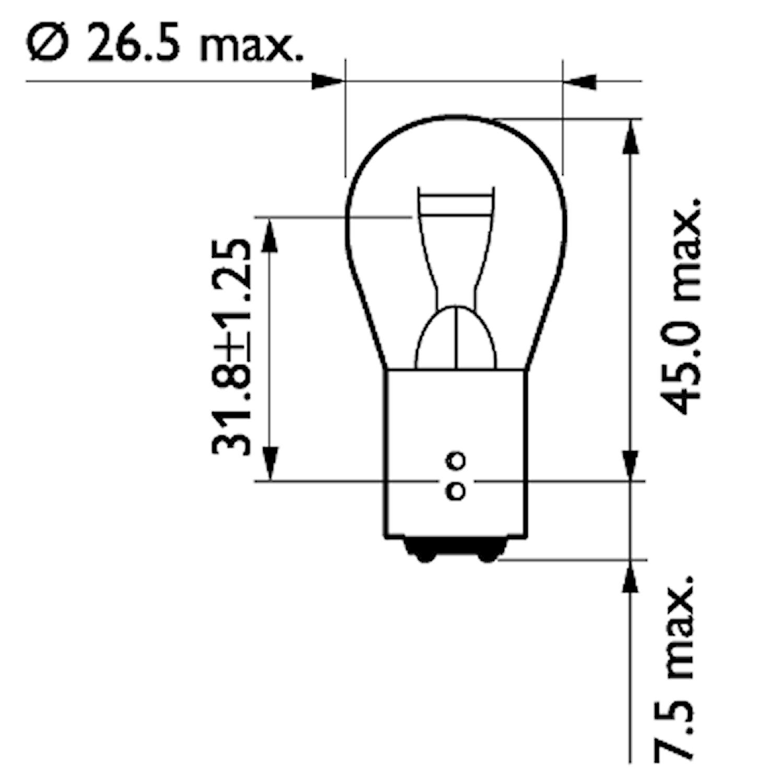 Glödlampa 24V 21/5W BAY15d