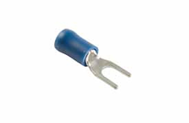 Gaffelkabelsko 4,3mm blå