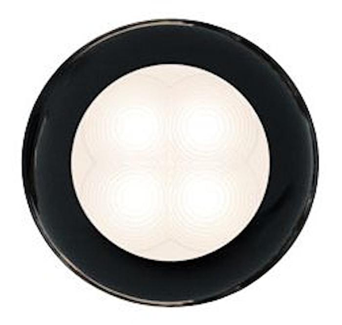 Flushbelysn 24V LED vit 75mm Ø