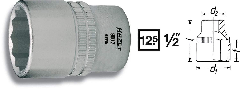 """Hylsa 12 kant 28 mm 1/2"""""""
