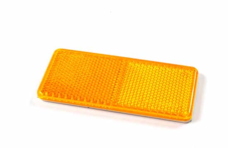 Reflex gul 94x44mm självhäft