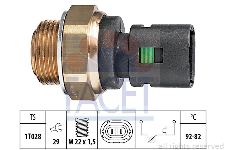 Termokontakt M22x1,5 92g 2-pol