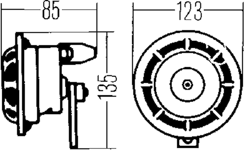 Starktonshorn-sats 12V
