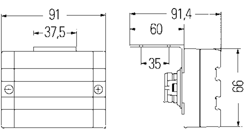 Pos.lykta 24V m reflex 92x66mm